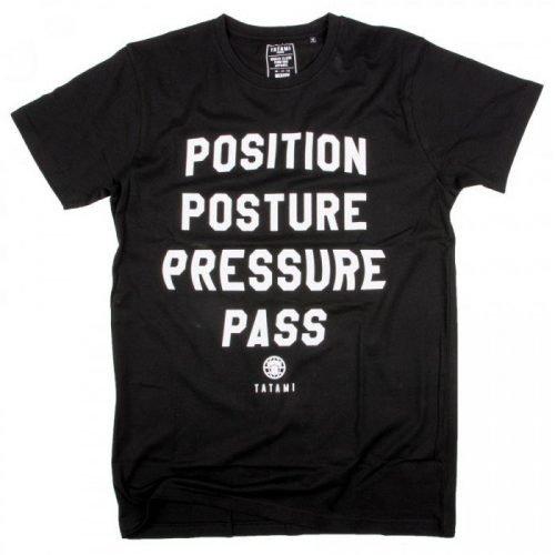 Tatami Pressure Pass T-Shirt in Black