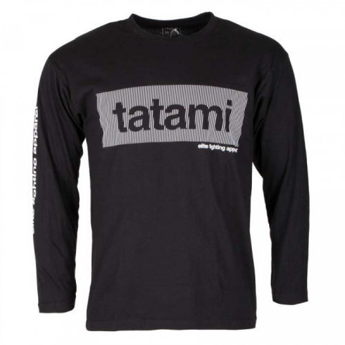 Tatami Wave Long Sleeve T-Shirt in Black