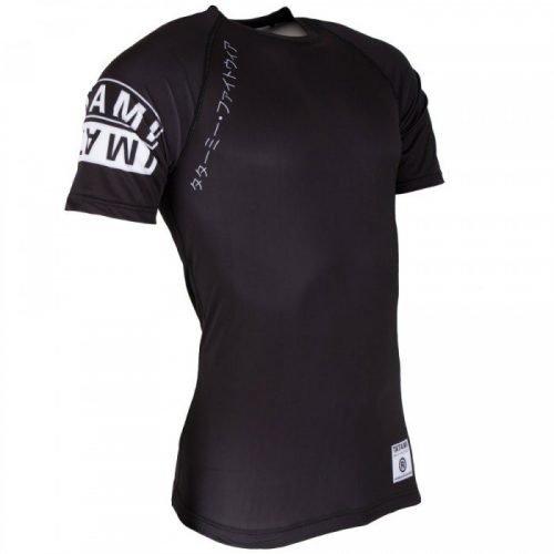 Tatami White Label Short Sleeve Rash Guard Black