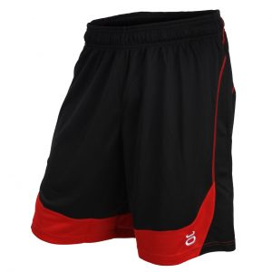 Tenacity Jaco Twisted Mock Mesh Shorts Black & Red