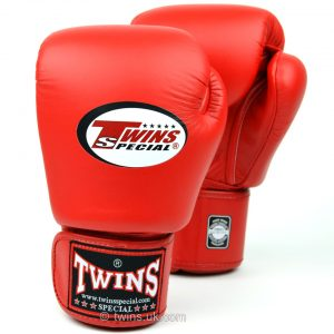 Twins BGVL-3 Leather Boxing Gloves Red
