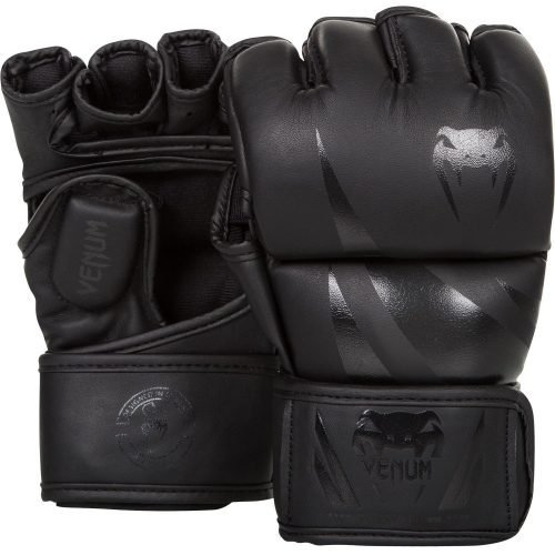 Venum Challenger MMA Gloves in Matte Black