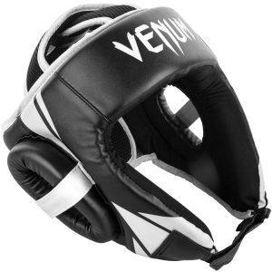 Venum Challenger Open Face Head Guard in Black White