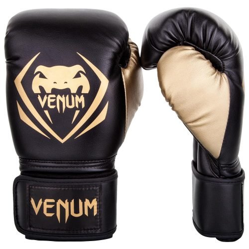 Venum Contender Boxing Gloves Black Gold