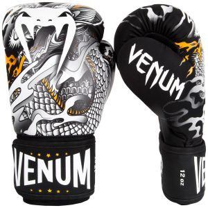 Venum Dragons Flight Boxing Gloves Black White