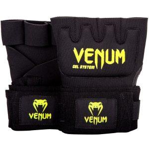 Venum Kontact Gel Hand Wraps Black Neo Yellow