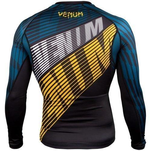 Venum Plasma Rash Guard in Black Yellow
