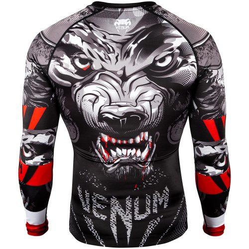 Venum Werewolf Long Sleeve Rash Guard in Black