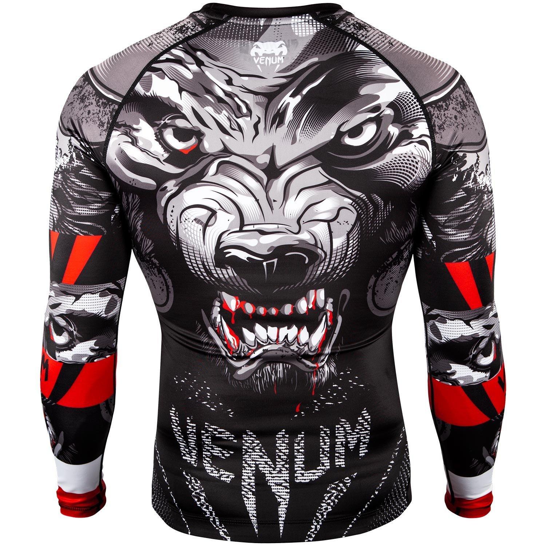 92a26db5 Venum Werewolf Long Sleeve Rash Guard in Black   Minotaur Fight Store