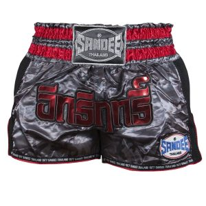 Sandee Supernatural Power Thai Shorts Black Carbon Red