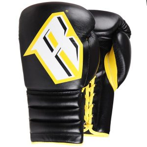 REVGEAR S4 PROFESSIONAL BOXING GLOVES SPARRING STING BLACK YELLOW