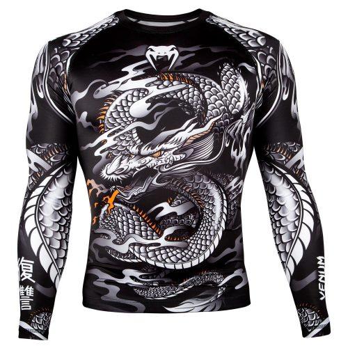 Venum Dragons Flight Rash Guard in Black