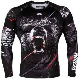 Venum Grizzli Rash Guard Long Sleeve Black