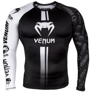 Venum Logos Rash Guard Black