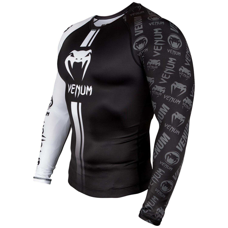 venum logos long sleeve rash guard black minotaur fight
