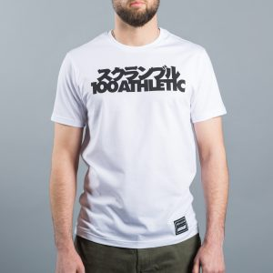 SCRAMBLE X 100ATHLETIC TEE WHITE1