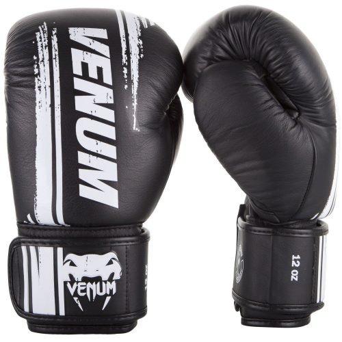 Venum Bangkok Spirit Boxing Gloves Black Nappa Leather