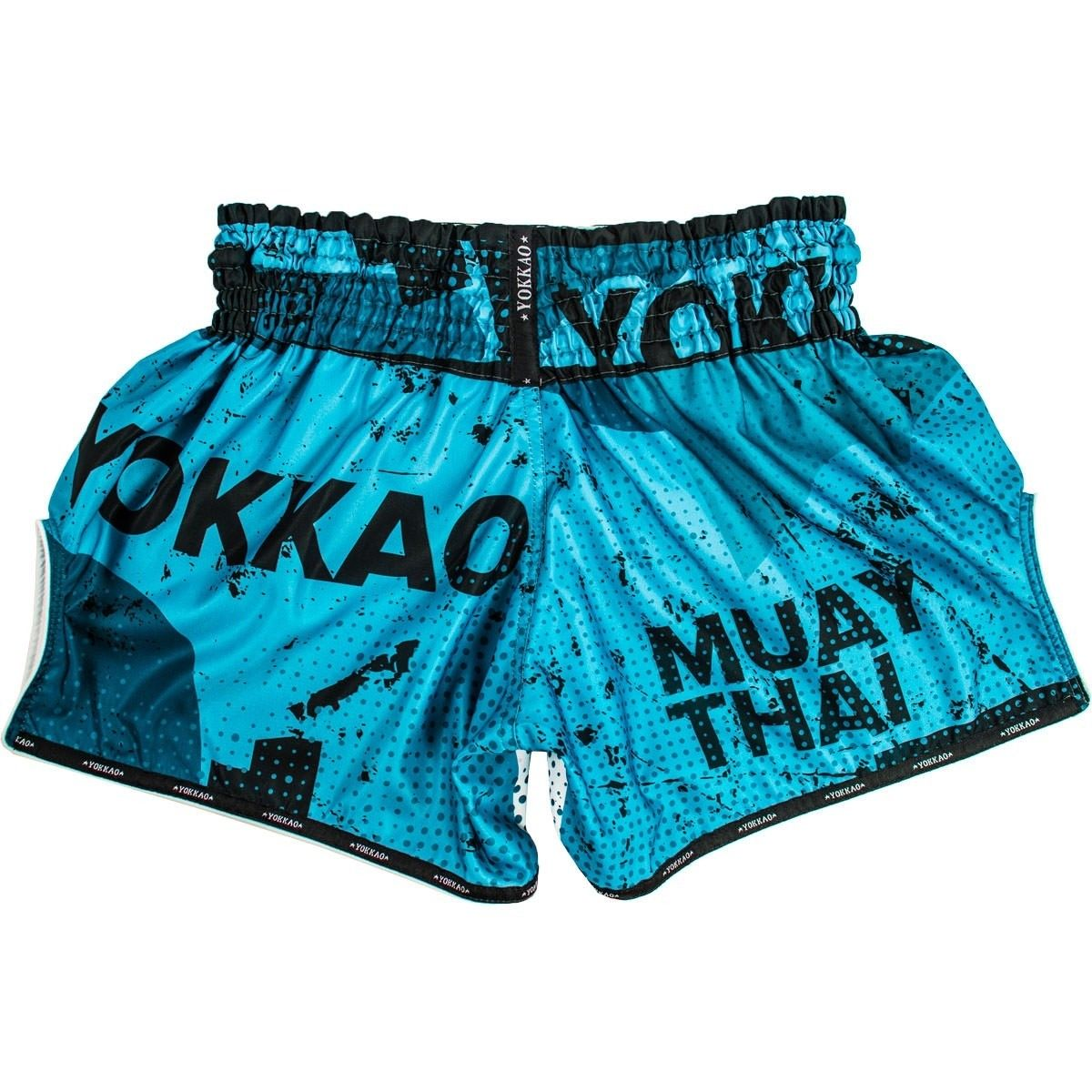 Yokkao Muay Thai Shorts Carbonfit Urban Blue Thai Boxing Kickboxing Striking K1