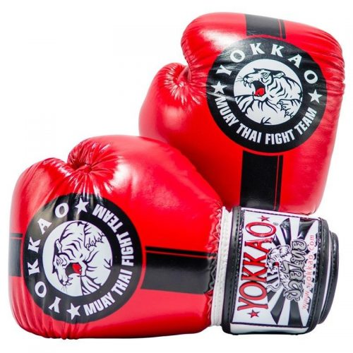 Yokkao Official Fight Team Boxing Gloves Red Black