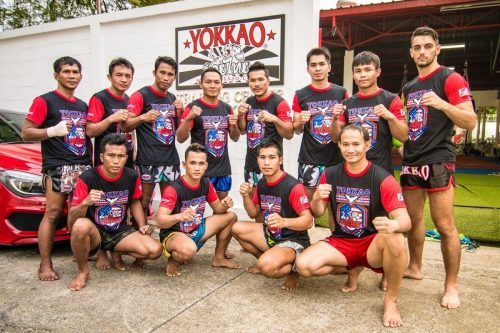 Image of the YOKKAO fight team for Thai Boxing Store London Landing Page