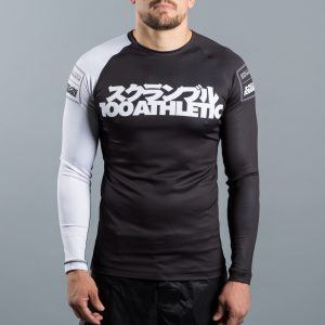 Scramble x 100Athletic Rash Guard Black