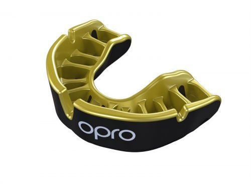OPRO Gen4 Mouth Guard Gold Self Fit Black Gold