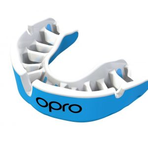 OPRO Gen4 Mouth Guard Gold Self Fit Sky Blue