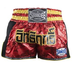 Sandee Supernatural Power Shorts Red Carbon Black Gold