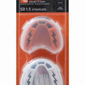 Shock Doctor Mouth Guard Twin Pack v1.5 Gum Shield Black White / Orange Black