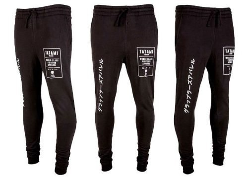 Tatami Brand Tapered Joggers Black