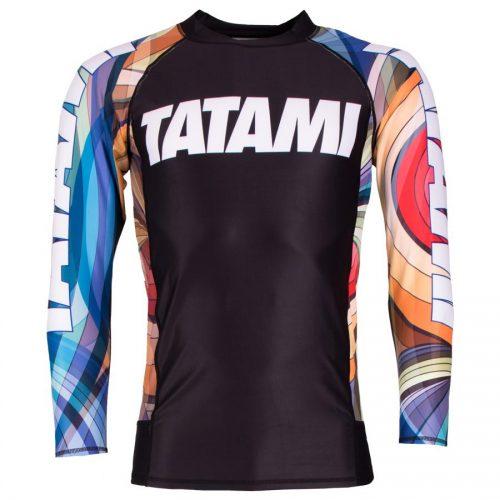 Tatami Essential Psychedelic Rash Guard Black