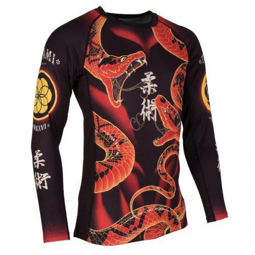 Tatami Duelling Snakes Rash Guard Black
