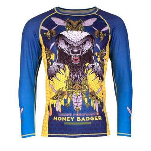 Tatami Honey Badger V5 Rash Guard in Blue