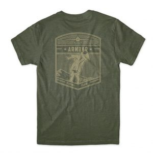 Choke Republic Armbar Flying Club Tee Military Green T-Shirt