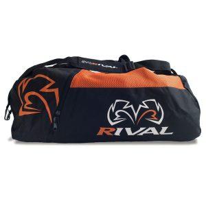 Rival RGB50 Gym Bag Boxing Holdall Backpack Black Orange