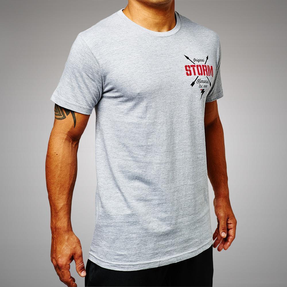 Storm Roller T-Shirt Heather Grey   Minotaur Fight Store