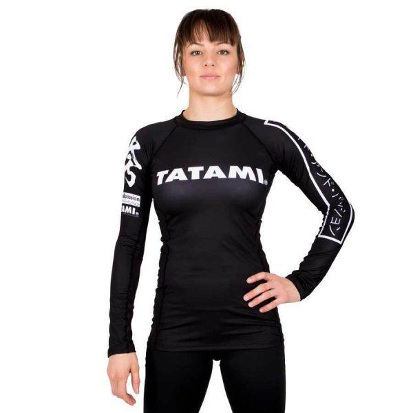 Tatami Ladies Rash Guard Hokori Long Sleeve Black