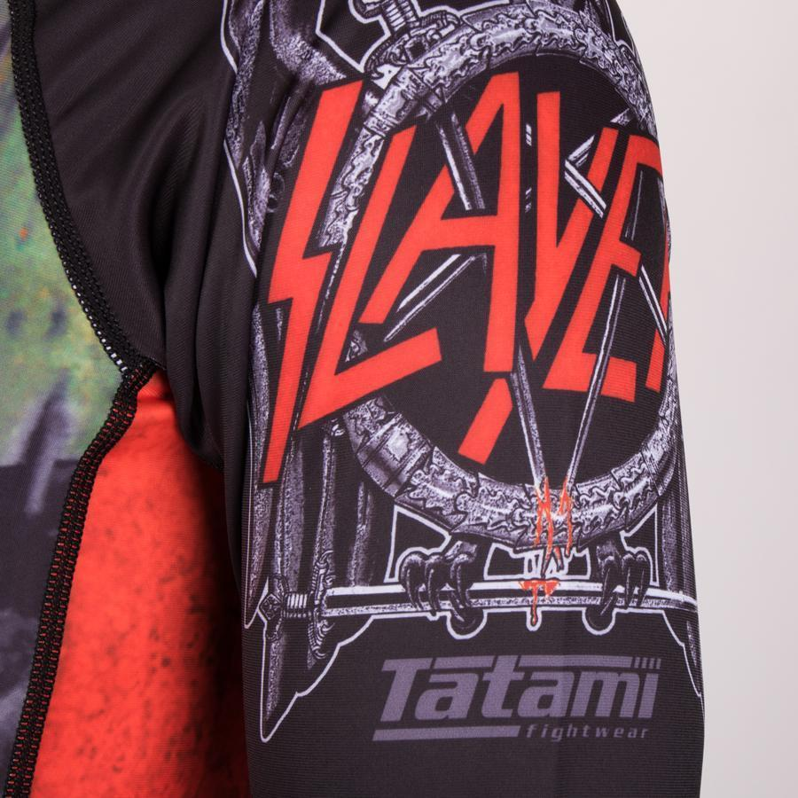 Tatami Slayer Blood BJJ Rash Guard Mens Rashguard MMA No-Gi Compression Top
