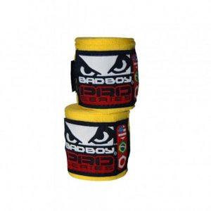 Bad Boy Stretch Hand Wraps Yellow 3.5M