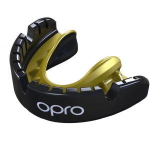 OPRO Gen 4 Mouth Guard Gold Level Braces Black Gold