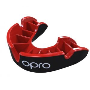 OPRO Mouth Guard Gen4 Silver Level Self Fit Black Red