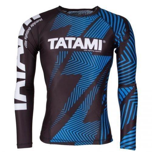 Tatami IBJJF Rash Guard Rank Blue Long Sleeve