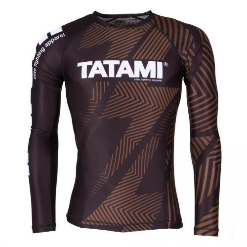 Tatami IBJJF Legal Rash Guard Rank Brown Long Sleeve