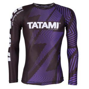 Tatami IBJJF Legal Rash Guard Rank Purple Long Sleeve