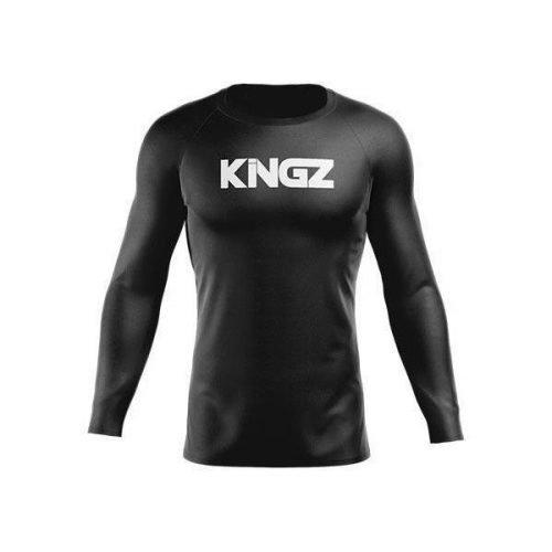 Kingz Black Friday Rash Guard Long Sleeve Black