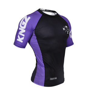 Kingz Ranked V3 Rash Guard Short Sleeve Purple