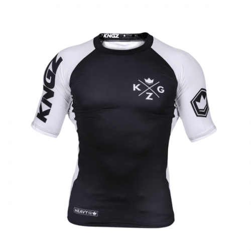 Kingz Ranked V3 Rash Guard Short Sleeve White