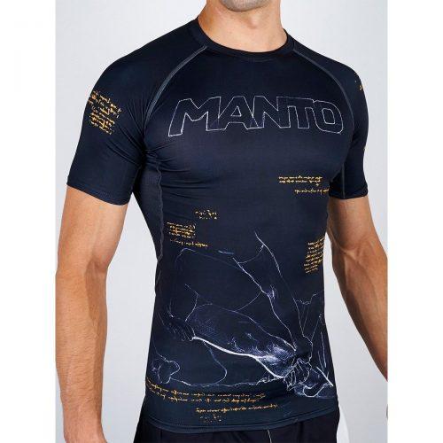 Manto Ashi Garami Rash Guard Short Sleeve Black