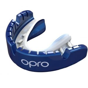 OPRO Gen 4 Mouth Guard Gold Level Braces Pearl Blue