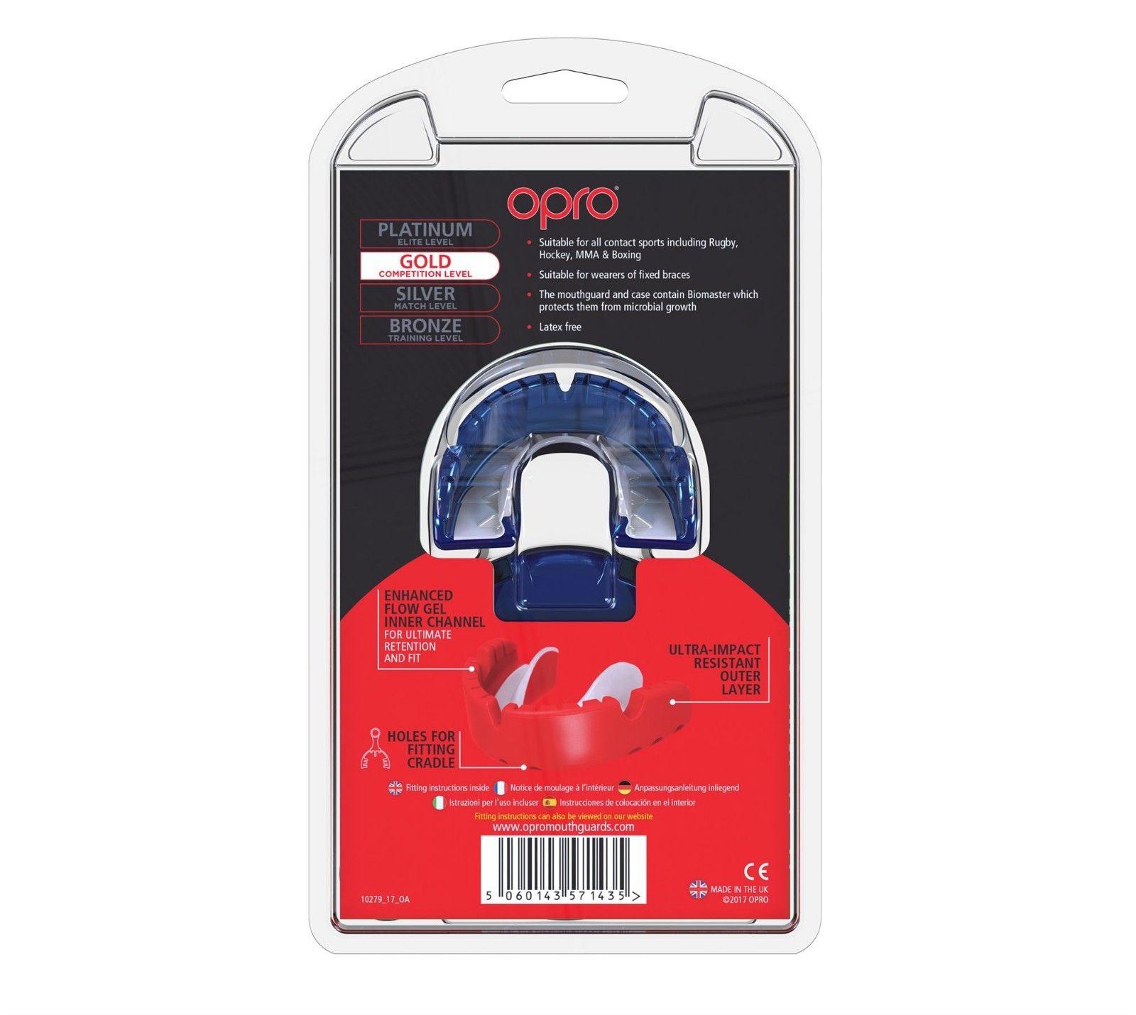 Opro Bronz Braces mouthguard